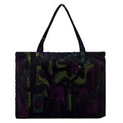 Abstract art Medium Zipper Tote Bag