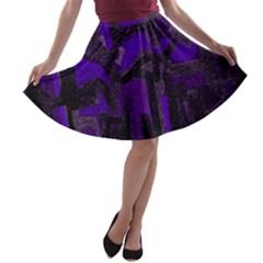 Abstract art A-line Skater Skirt