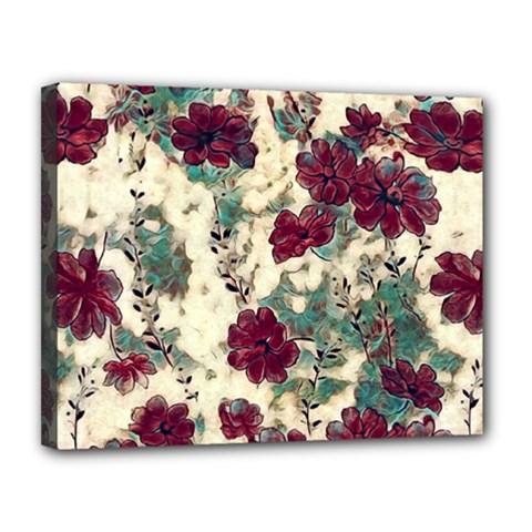 Floral Dreams 10 Canvas 14  x 11