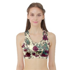 Floral Dreams 10 Sports Bra with Border