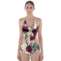 Floral Dreams 10 Cut-Out One Piece Swimsuit