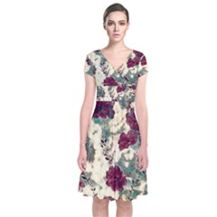 Floral Dreams 10 Short Sleeve Front Wrap Dress
