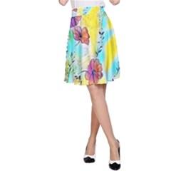 Floral Dreams 12 A-Line Skirt