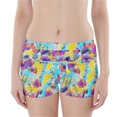 Floral Dreams 12 Boyleg Bikini Wrap Bottoms