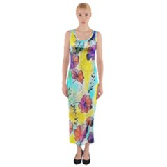 Floral Dreams 12 Fitted Maxi Dress