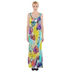 Floral Dreams 12 Maxi Thigh Split Dress