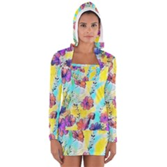 Floral Dreams 12 Women s Long Sleeve Hooded T-shirt