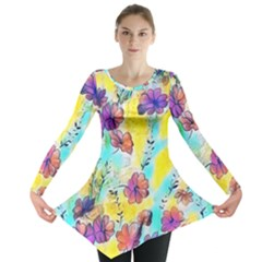 Floral Dreams 12 Long Sleeve Tunic