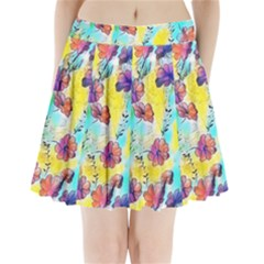 Floral Dreams 12 Pleated Mini Skirt