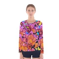Floral Dreams 15 Women s Long Sleeve Tee