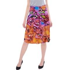 Floral Dreams 15 Midi Beach Skirt