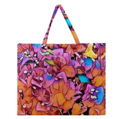 Floral Dreams 15 Zipper Large Tote Bag