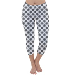 Pattern Capri Winter Leggings
