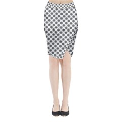 Pattern Midi Wrap Pencil Skirt