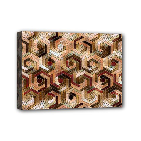 Pattern Factory 23 Brown Mini Canvas 7  x 5
