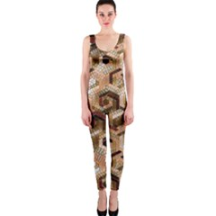 Pattern Factory 23 Brown OnePiece Catsuit