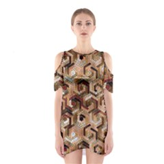 Pattern Factory 23 Brown Shoulder Cutout One Piece