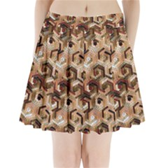 Pattern Factory 23 Brown Pleated Mini Skirt