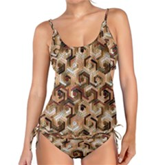 Pattern Factory 23 Brown Tankini