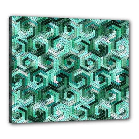 Pattern Factory 23 Teal Canvas 24  x 20