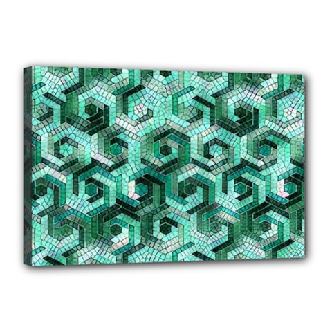 Pattern Factory 23 Teal Canvas 18  x 12