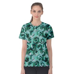 Pattern Factory 23 Teal Women s Cotton Tee