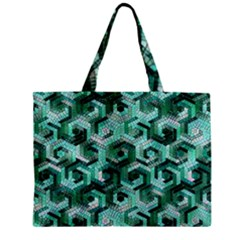 Pattern Factory 23 Teal Mini Tote Bag