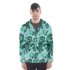 Pattern Factory 23 Teal Hooded Wind Breaker (Men)