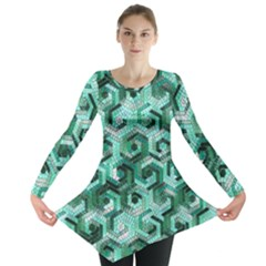Pattern Factory 23 Teal Long Sleeve Tunic