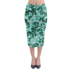 Pattern Factory 23 Teal Midi Pencil Skirt