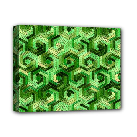 Pattern Factory 23 Green Deluxe Canvas 14  x 11