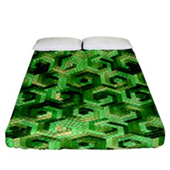 Pattern Factory 23 Green Fitted Sheet (California King Size)