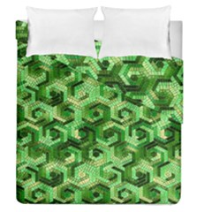 Pattern Factory 23 Green Duvet Cover Double Side (Queen Size)