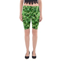 Pattern Factory 23 Green Yoga Cropped Leggings
