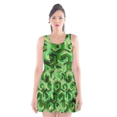 Pattern Factory 23 Green Scoop Neck Skater Dress