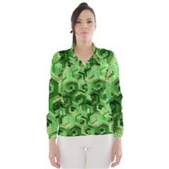 Pattern Factory 23 Green Wind Breaker (Women)
