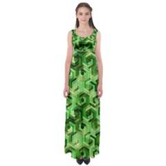 Pattern Factory 23 Green Empire Waist Maxi Dress