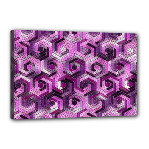 Pattern Factory 23 Pink Canvas 18  x 12
