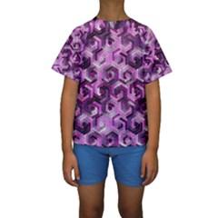 Pattern Factory 23 Pink Kids  Short Sleeve Swimwear