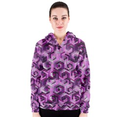 Pattern Factory 23 Pink Women s Zipper Hoodie