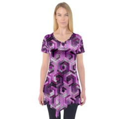 Pattern Factory 23 Pink Short Sleeve Tunic