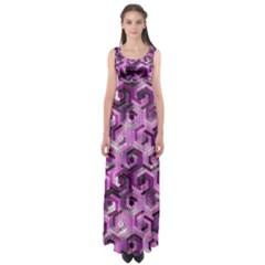 Pattern Factory 23 Pink Empire Waist Maxi Dress