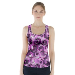 Pattern Factory 23 Pink Racer Back Sports Top