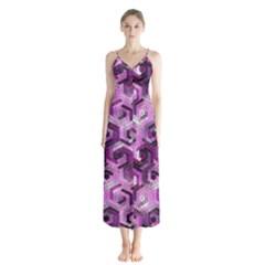 Pattern Factory 23 Pink Chiffon Maxi Dress