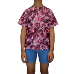 Pattern Factory 23 Red Kids  Short Sleeve Swimwear
