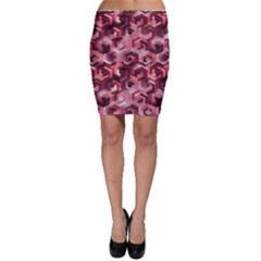 Pattern Factory 23 Red Bodycon Skirt