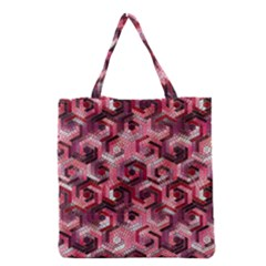 Pattern Factory 23 Red Grocery Tote Bag