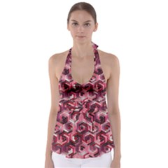 Pattern Factory 23 Red Babydoll Tankini Top