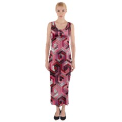 Pattern Factory 23 Red Fitted Maxi Dress