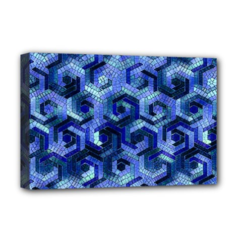 Pattern Factory 23 Blue Deluxe Canvas 18  x 12